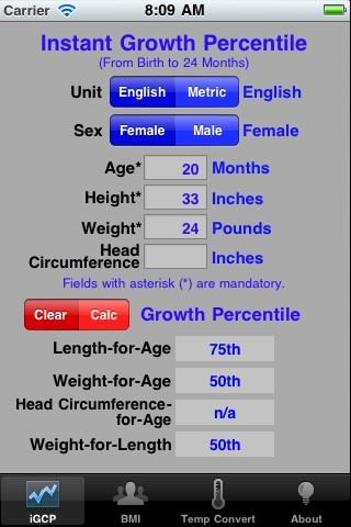 Growth Chart Percentile by appluent