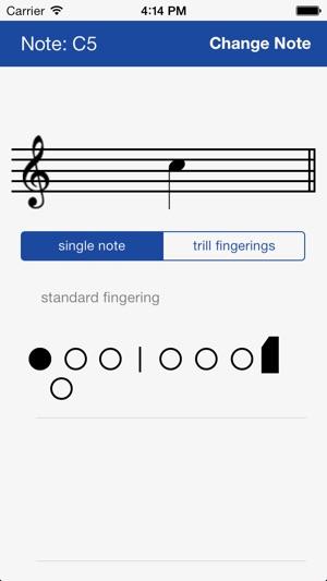 Flute Fingering Chart on the App Store - flute fingering chart