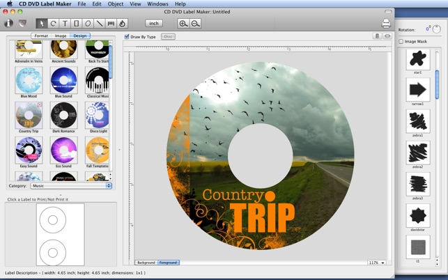 CD DVD Label Maker on the Mac App Store - create cd labels
