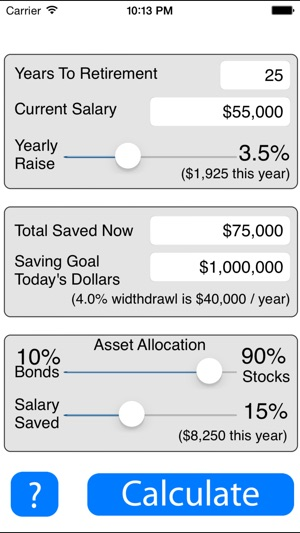 Retirement Savings Calculator Lite on the App Store