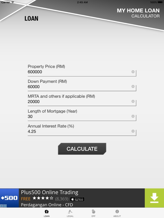 Malaysia Home Loan Calculator on the App Store
