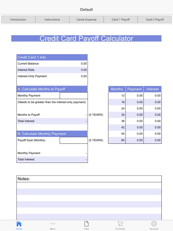 Credit Cards Payoff Calculator by Aspiring Investments Corp