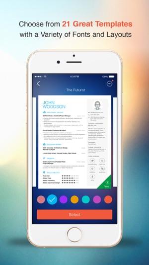 Resume CV Builder  Designer For Your Job Search on the App Store - mobile resume