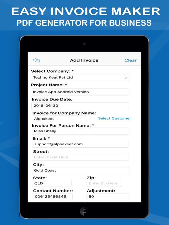 Easy Invoice Maker App Price Drops