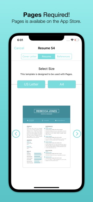 Resume Templates (for Pages) on the App Store