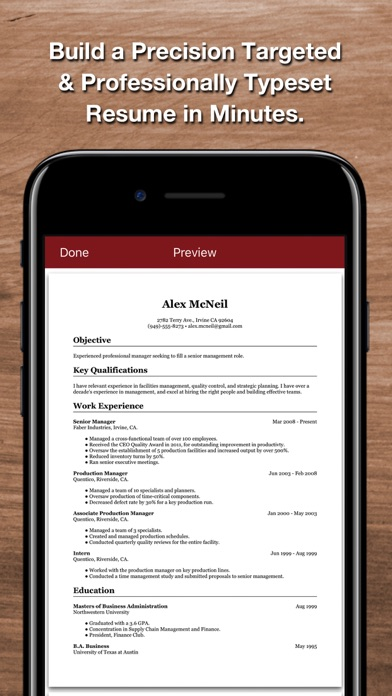 Resume Star 2 Pro CV Designer by Qrayon, LLC (iOS, United States