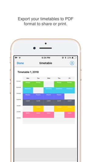 Day-Today Timetable on the App Store