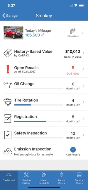 vehicle service history - Mavij-plus