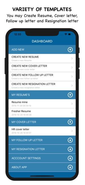 My Resume Builder - CV Maker on the App Store