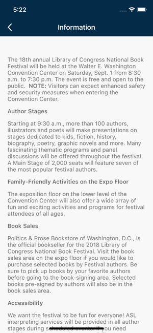 National Book Festival on the App Store