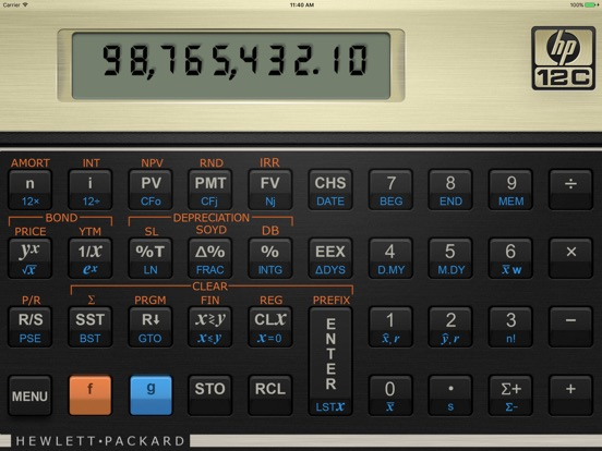 HP 12C Financial Calculator App Price Drops - financial calculator