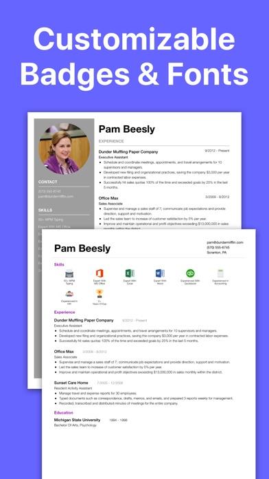 Resume Builder CV Designer - by Fighting Octopus, LLC - #10 App in