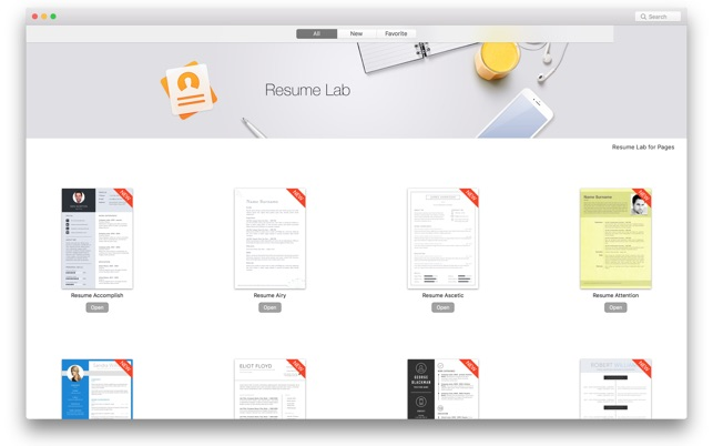 Resume  CV Lab - Templates on the Mac App Store