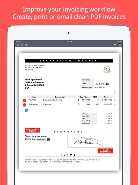 Invoice Maker Plus Create, Send, Print PDF files App Price Drops
