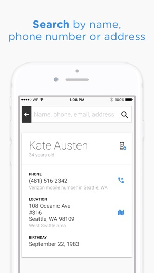 Whitepages People Search on the App Store - address to phone