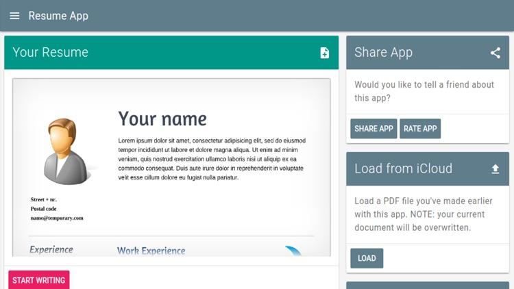Resume App\u0027 by Wouter van der Kamp - app resume