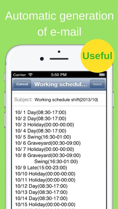 Shift Planning Calendar Pro - AppRecs - shift workers schedule