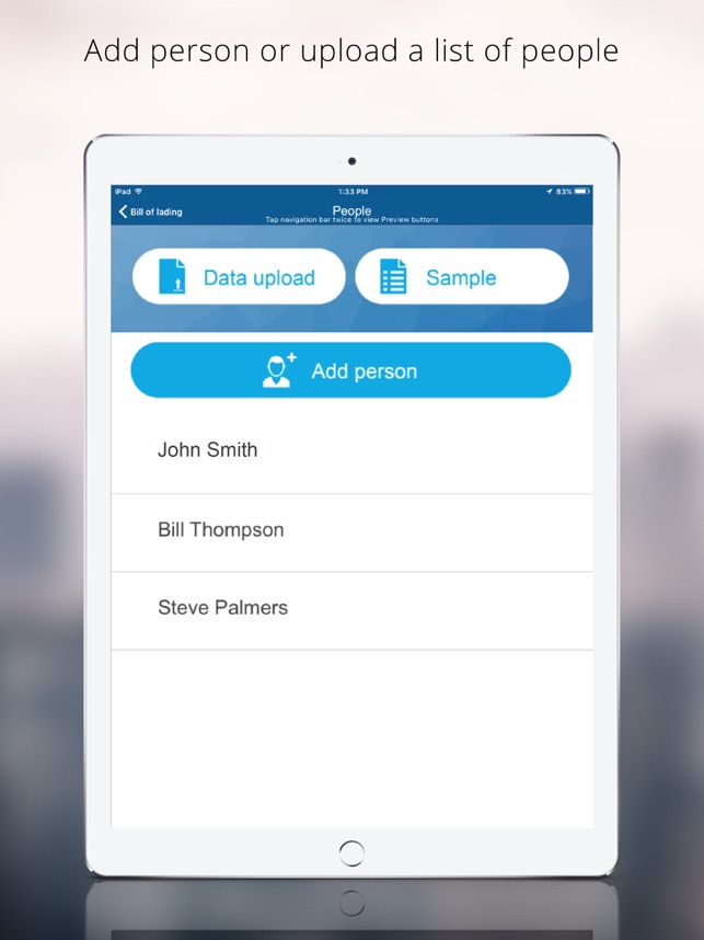 Bill of Lading Manager app on the App Store