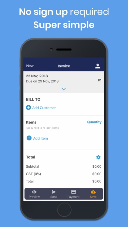 Simple Invoice Template Maker by Bill Jobs