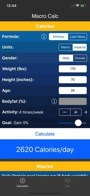 IIFYM Macro/Calorie Calculator on the App Store - calorie and fat calculator