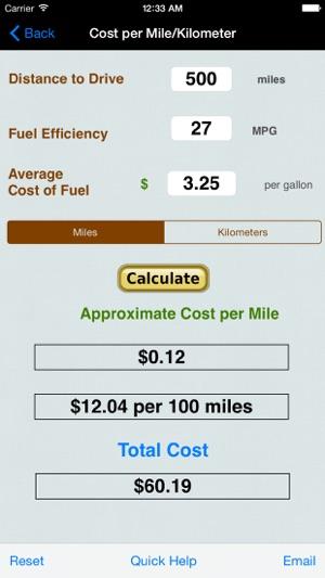 \u200eRoadtrip Gas Cost Calculator