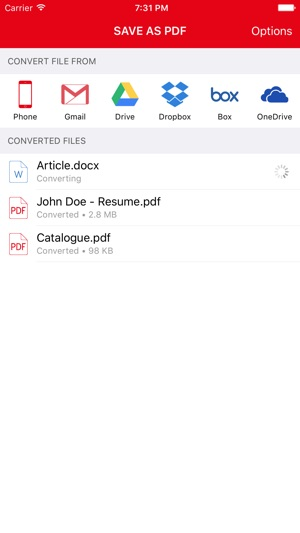 Save as PDF - from Anywhere - Convert Text, Word, Excel, OpenOffice