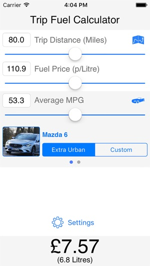 Trip Fuel Calculator on the App Store