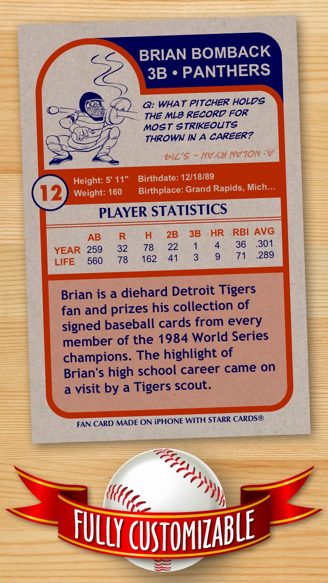FREE Baseball Card Template \u2014 Create Personalized Sports Cards