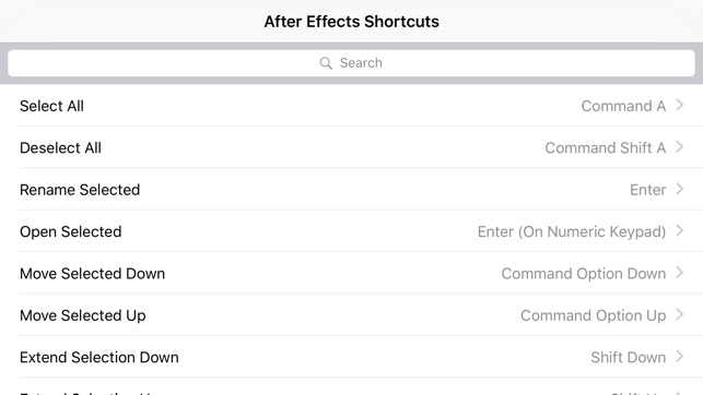Shortcut After Effects Edition on the App Store