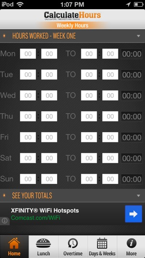 Time Card Calculator - Timeclock on the App Store - time card calculator