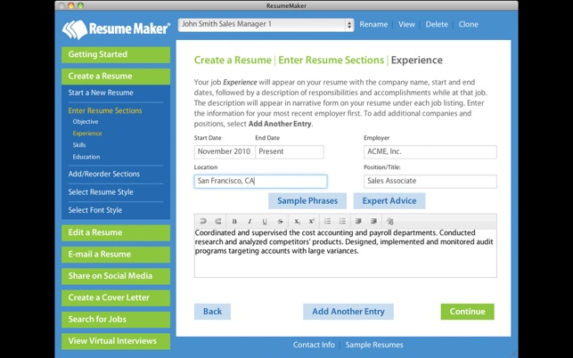 Resume Maker® on the Mac App Store - resume software mac