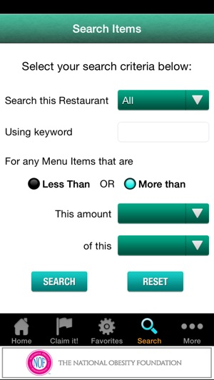 Restaurant Menu Nutrition on the App Store