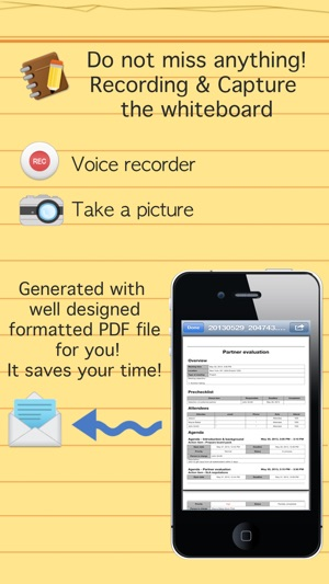 Smart meeting minutes multi sync - Schedule  action item check list