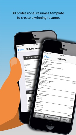 iResumes \u2013 Pro Resume Builder and Designer on the App Store