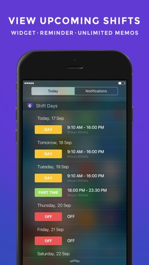 Shift Work Days - Calendar Planning for Shift Worker on the App Store - shift workers schedule