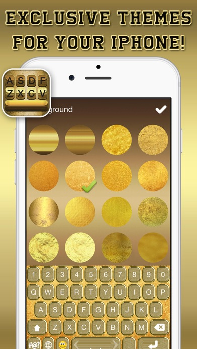 Gold Keyboard Themes Color Text Fonts and Message Backgrounds