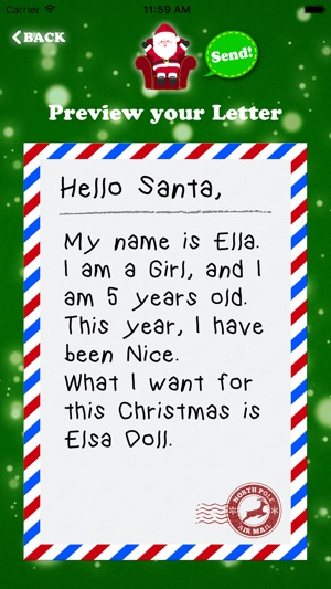 Letter to Santa Claus - Write to Santa North Pole on the App Store