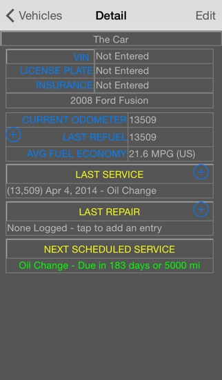 CarTune Free - Vehicle Maintenance and Gas Mileage Tracker App