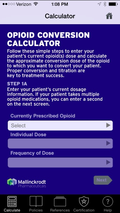 Opioid Dose Conversion Calculator - by Mallinckrodt, LLC - Medical