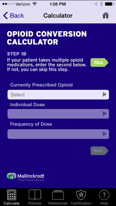 Opioid Dose Conversion Calculator by Mallinckrodt, LLC (iOS, United