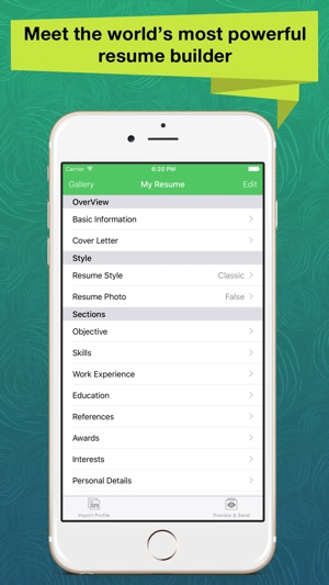 Resume Apex Pro \u2013 Professional CV Maker  Builder on the App Store