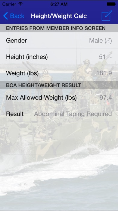 Related Apps Navy PFA - PRT BCA Calculator - by Vandersoft - Health