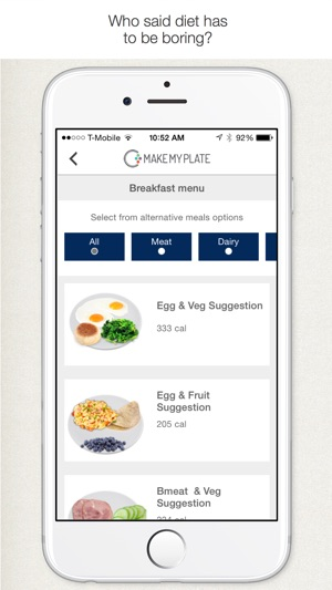 MakeMyPlate - Weight loss  healthy diet meal plan on the App Store - healthy meal plan