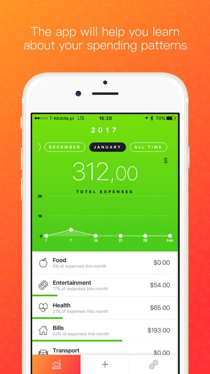 Blinq Simple Expense Tracker Spendings Analytics by Tomasz Koszyk