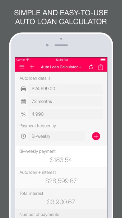 Auto Loan Calculator + na App Store - auto loan calculator
