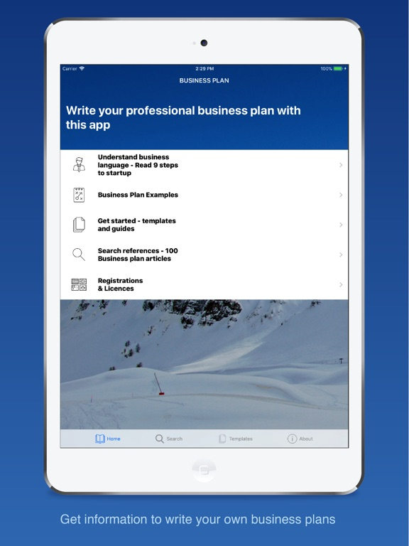 Business Plan for Startups na App Store - professional business plan