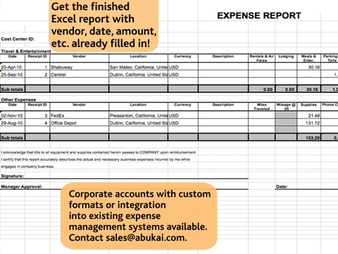 Expense Reports, Receipts, Invoices \ Business Expenses with - expense report