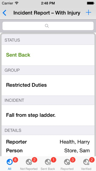 Fall Incident Report Injury Incident Report Form Injury Incident