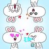 Yerzhan Tleuov - Funny Rabbits Stickers アートワーク