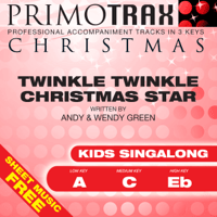 Twinkle Twinkle Little Star (Christmas) [Medium Key - C] [Performance Backing Track] Christmas Primotrax